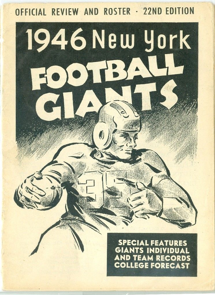 1946 New York Giants Press and radio guide exmt (clean copy!)