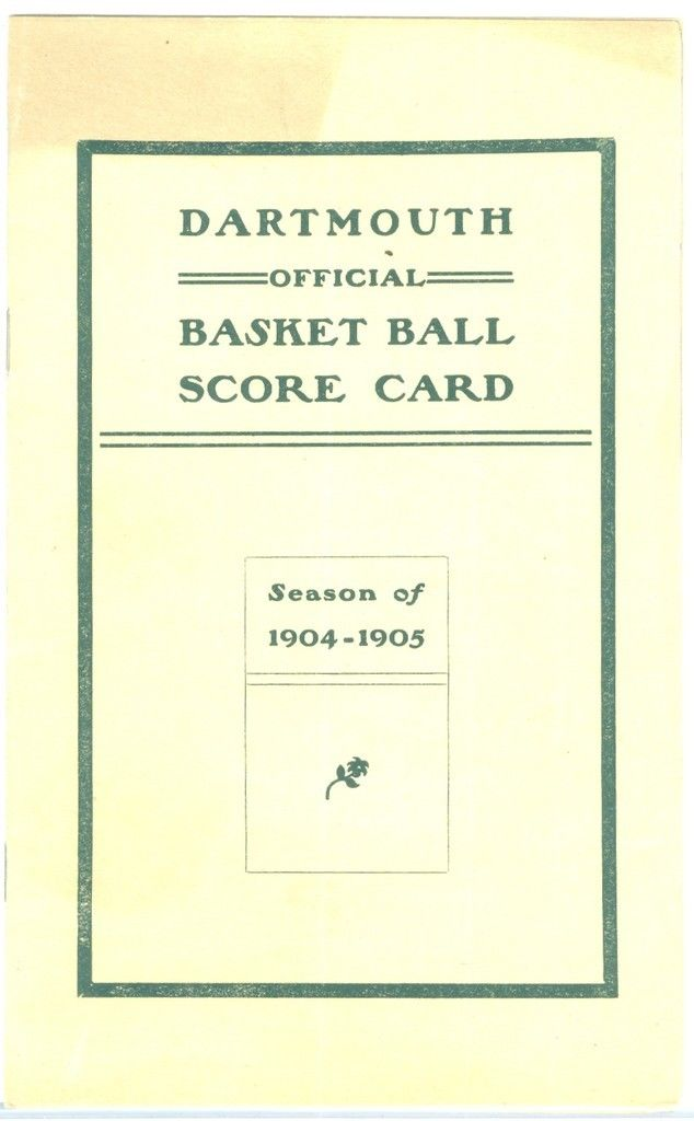 1904 - 1905 Dartmouth Basketball Program Score Card NBA7
