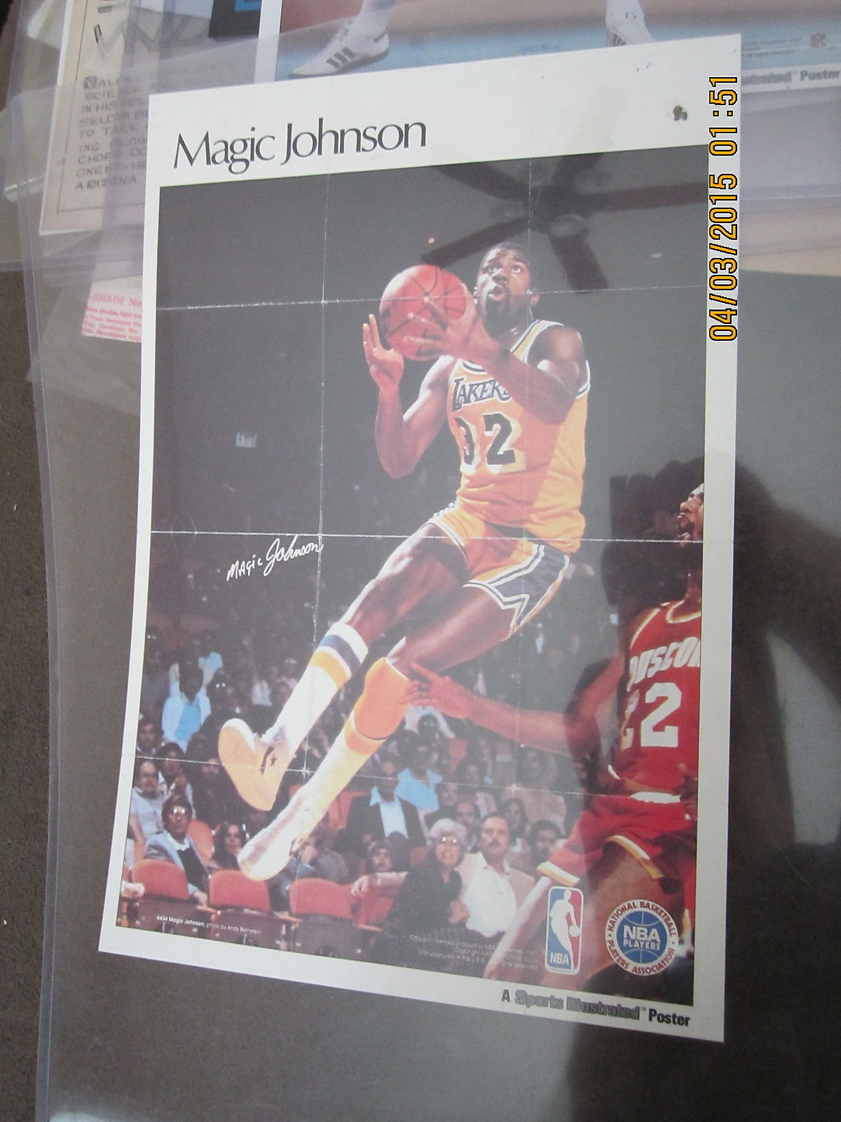 Magic Johnson Los Angeles Lakers Sports Illustrated Poster Quaker Chewy Bars