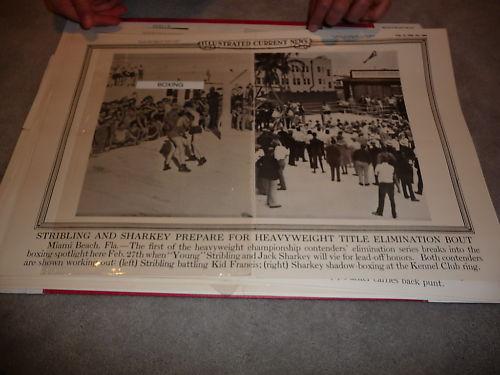 1929 Jack Sharkey Young Stribling Boxing Poster