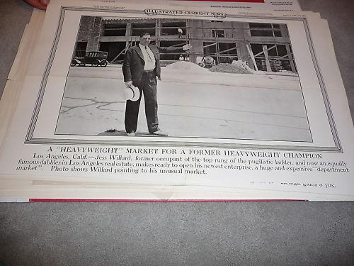 1930 Jess Willard Heavyweight Boxing Poster