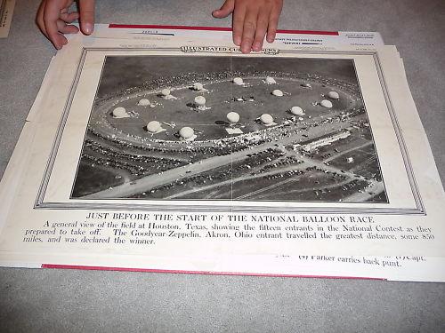 1930 National Ballon race Houston Current news poster