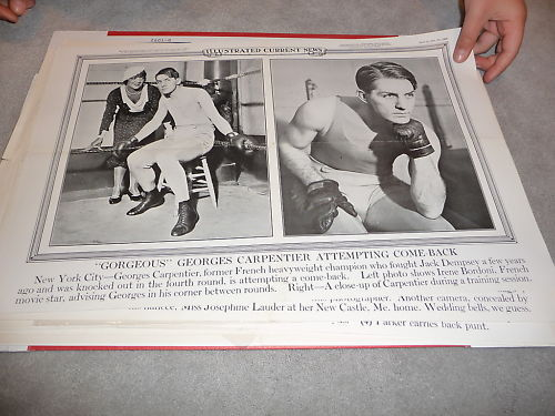 1932 George Carpentier heavyweight french boxer poster