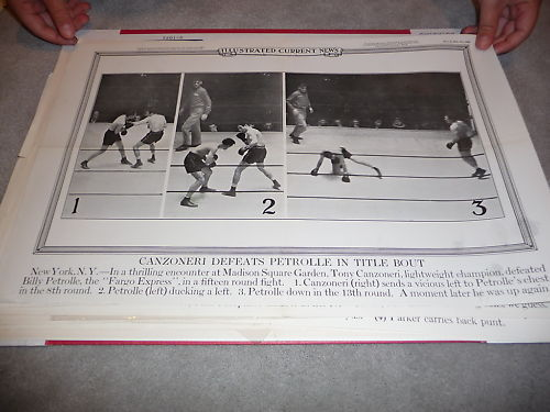 1932 Ton Canzoneri Billy Petrolle Boxing Poster