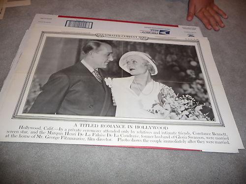 Constance Bennett 1931 Current news poster wedding
