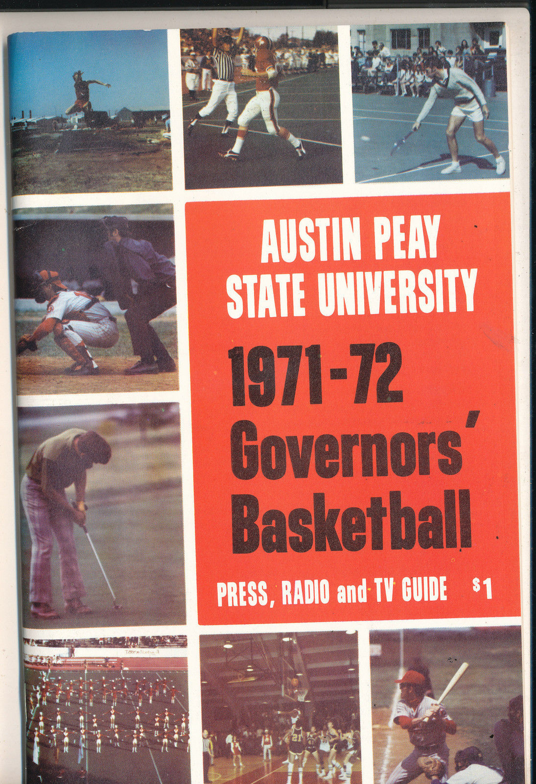 1971 - 1972 Austin Peay State University Basketball Press Media Guide bkbx7