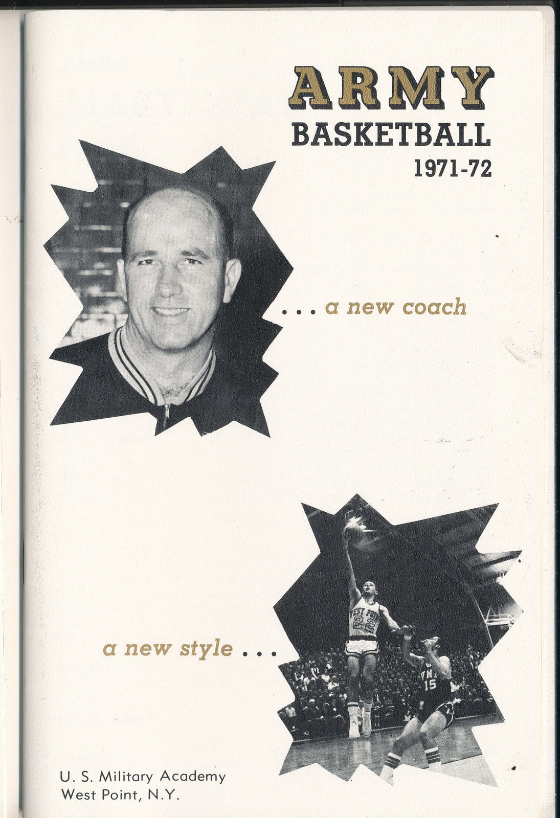 1971 - 1972 Army Basketball press Media guide bkbx7