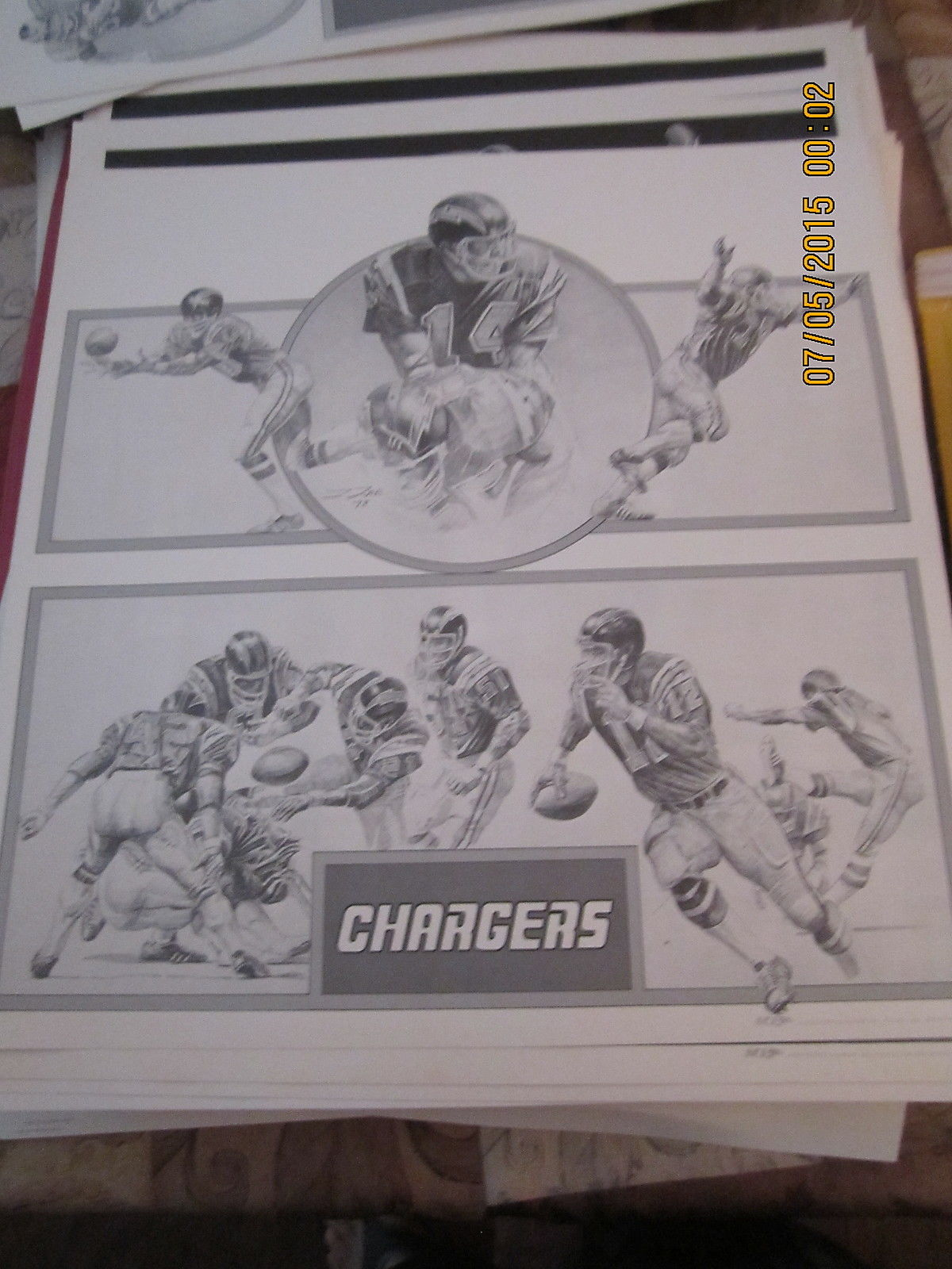 1978 SAn Diego Chargers  sci  print