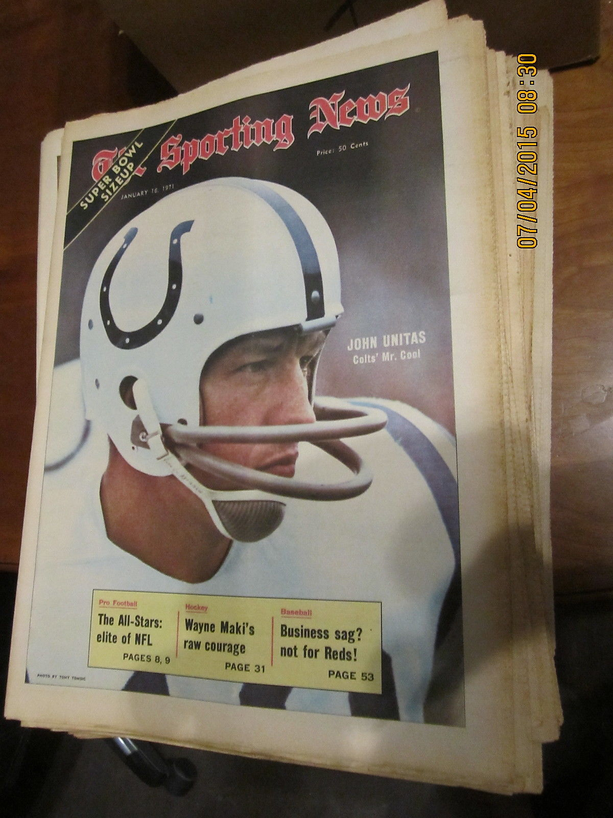 1/16 1971 The Sporting News Johnny Unitas Baltimore Colts