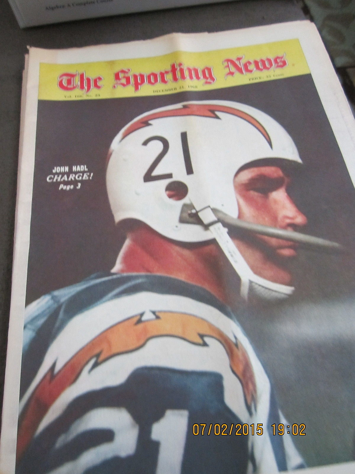 12/21 1968 The Sporting News John Hadl San Diego Chargers