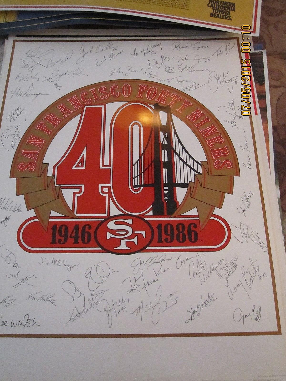 1986 San Francisco 49ers Team  Poster;