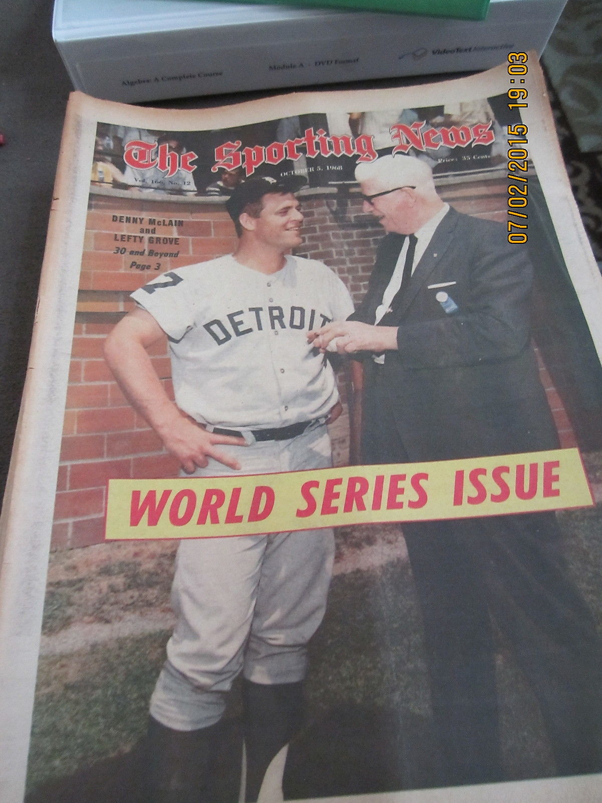10/5 1968 The Sporting News Denny McLain and Lefty Grove