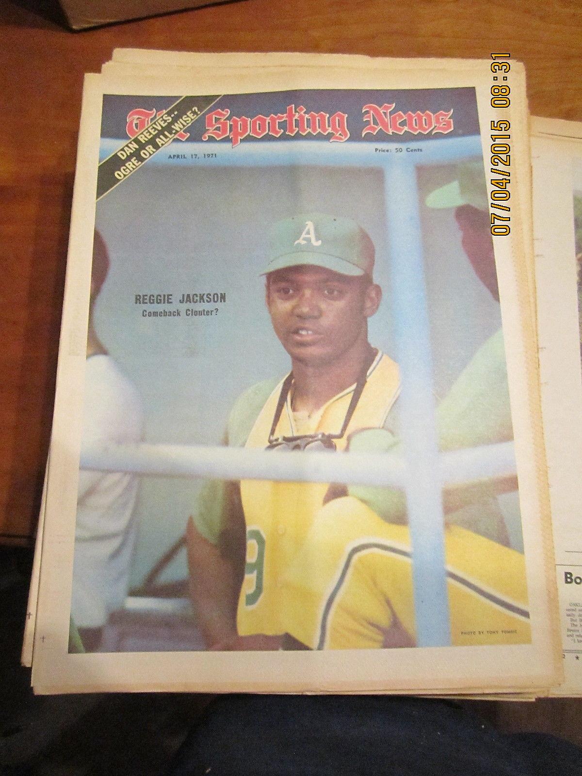 4/17 1971 The Sporting News Reggie Jackson Oakland A's