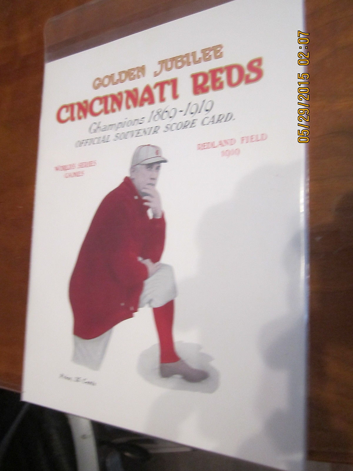 1919 World Series Program Cincinnati Reds Movie Prop version