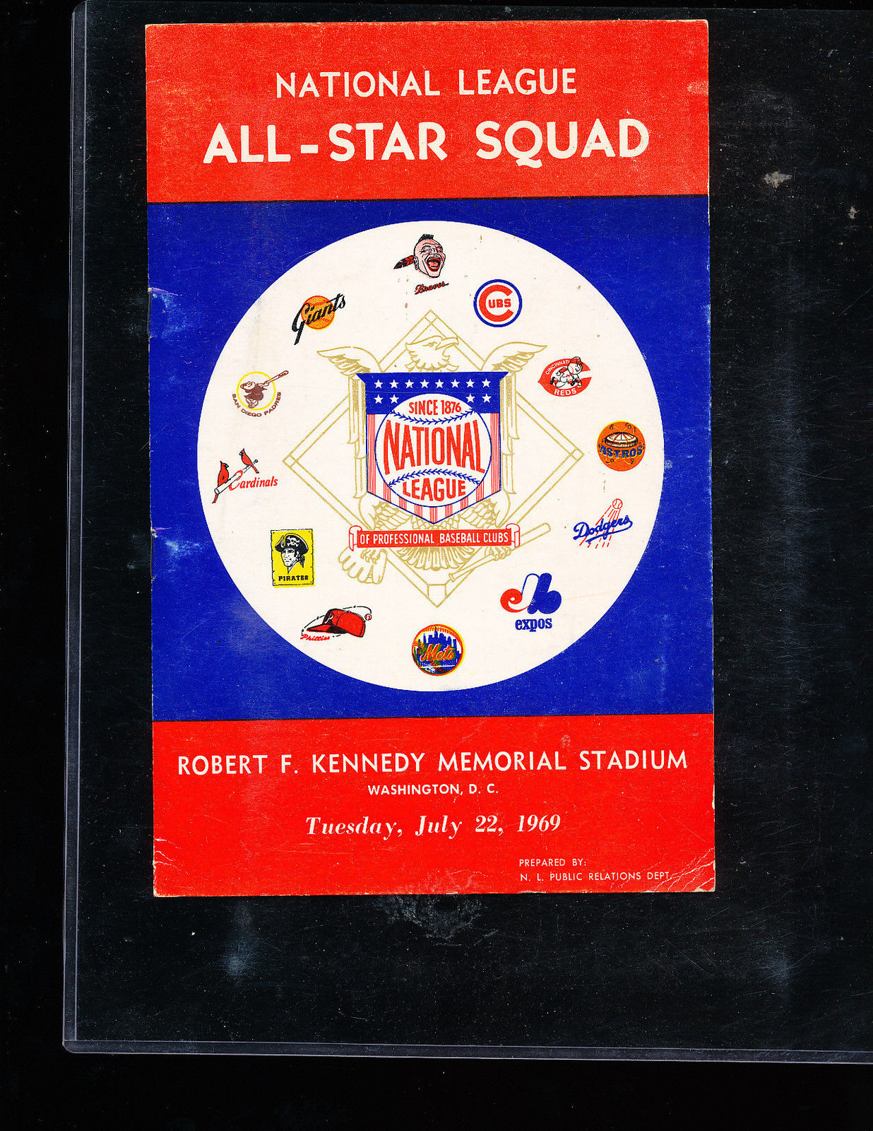 1969 National League All Star Game Baseball Guide