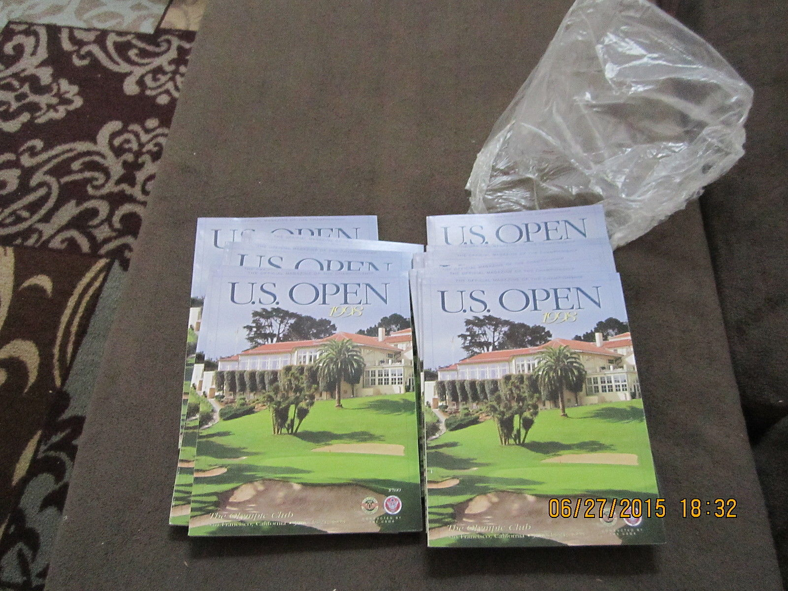 9 1998 US Open Golf Programs Tiger Woods nr mt