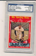 Orlando Cepeda signed 1959 Topps #553 San Francisco Giants card psa/dna