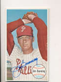Jim Bunning Phillies #10 Signed 1964 Topps Giant Baseball Card ex