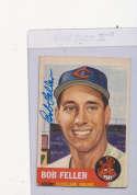 Bob Feller Cleveland Indians #54, Signed 1953 Topps Baseball Card ex