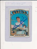 Harmon Killebrew Twins #51, Signed 1972 Topps Baseball Card ex
