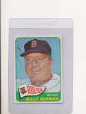 Billy Herman Boston Red Sox #291, Signed 1965 Topps Baseball Card em