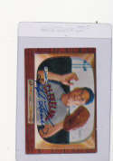Ralph Kiner Cleveland Indians #197, Signed 1955 bowman Baseball Card em