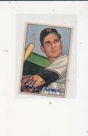 Bobby Thomson New York Giants #2, Signed 1952 bowman Baseball Card ex