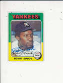Bobby Bonds new York Yankees #55, Signed 1975 Topps Baseball Card