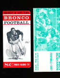 1967 University of Santa Clara Football Media Press Guide CFBmg0