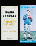 1967 Idaho Football Media Press Guide