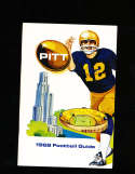 1968 Pitt Pittsburgh Football Media Press Guide