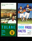 1968 Texas Christian University TCU  Football Media Press Guide