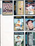 Earl Weaver Orioles team card #1 Signed 1971 Topps Baseball Card
