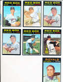 Sonny Siebert Red Sox #710 Signed 1971 Topps Baseball Card