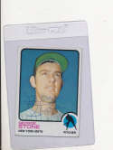 George Scott New York Mets #647 1973 topps Signed Baseball card