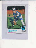 Joe Hoerner Atlanta Braves #653 1973 topps Signed Baseball card