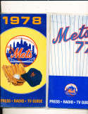 1978 New York Mets Press Guide em (only one listed)