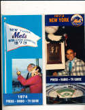 1974 New York Mets Press Guide em (only one listed)