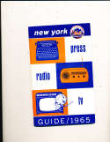 1965 New York Mets Press Guide em