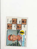 Sparky Anderson Reds #296 1973 topps Signed Baseball card