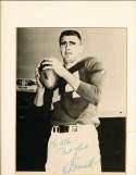 Earl Morrall Signed 8x10 matted photo 1960's personalized