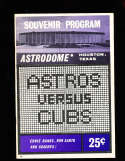 1965  Astros vs Cubs 7  to 7 scored baseball program