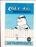 1963  San Francisco Giants vs Houston Colt 45's unscored Program