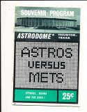 1965  8/15 San Francisco Giants vs Mets  scored Program