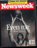 Magic Johnson Lakers 1991 Newsweek no label newsstand magazine rwa4