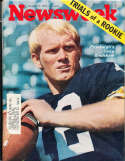 Newsweek 1970 10/5 Terry Bradshaw Pittsburgh Steelers em label rwa4