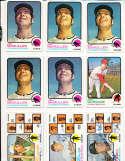 Eddie Kasko, Lee Strange, Don Lendhardt  signed 1973 Topps Baseball Card