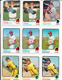 Ray Lamb cleveland Indians #469 1973 topps Signed Baseball card