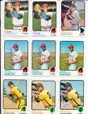 Enzo Hernandez Padres #438 1973 topps Signed Baseball card