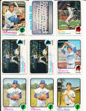 John Callison Yankees #535 Giants  1973 topps Signed Baseball card